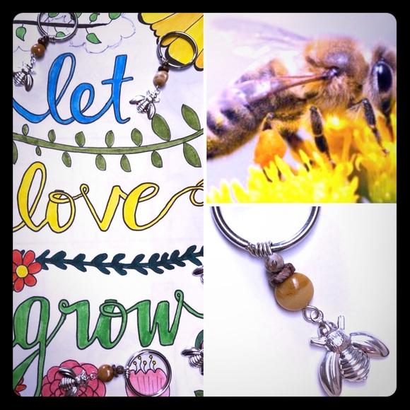 Honeybee Keychain